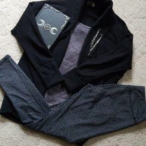 Kyodan Herringbone Warm Sweater Leggings